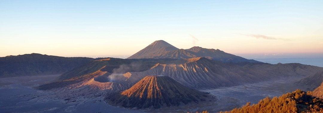 Sunrise over Mount Bromo in Java, Indonesia