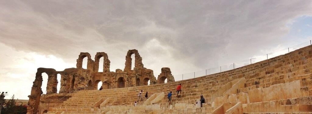 El Jem, roman ruins in Tunisia