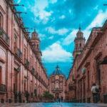 Street in Morelia Historic Center, Michoacan, Mexico