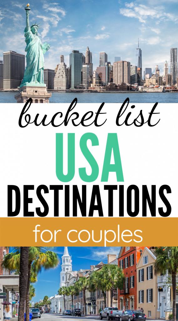 Romantic destinations in the US
