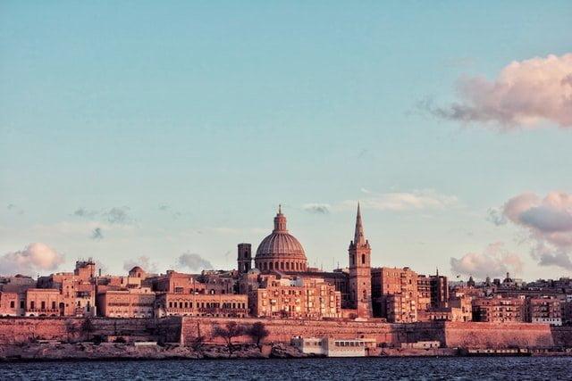 Valletta at sunset Malta
